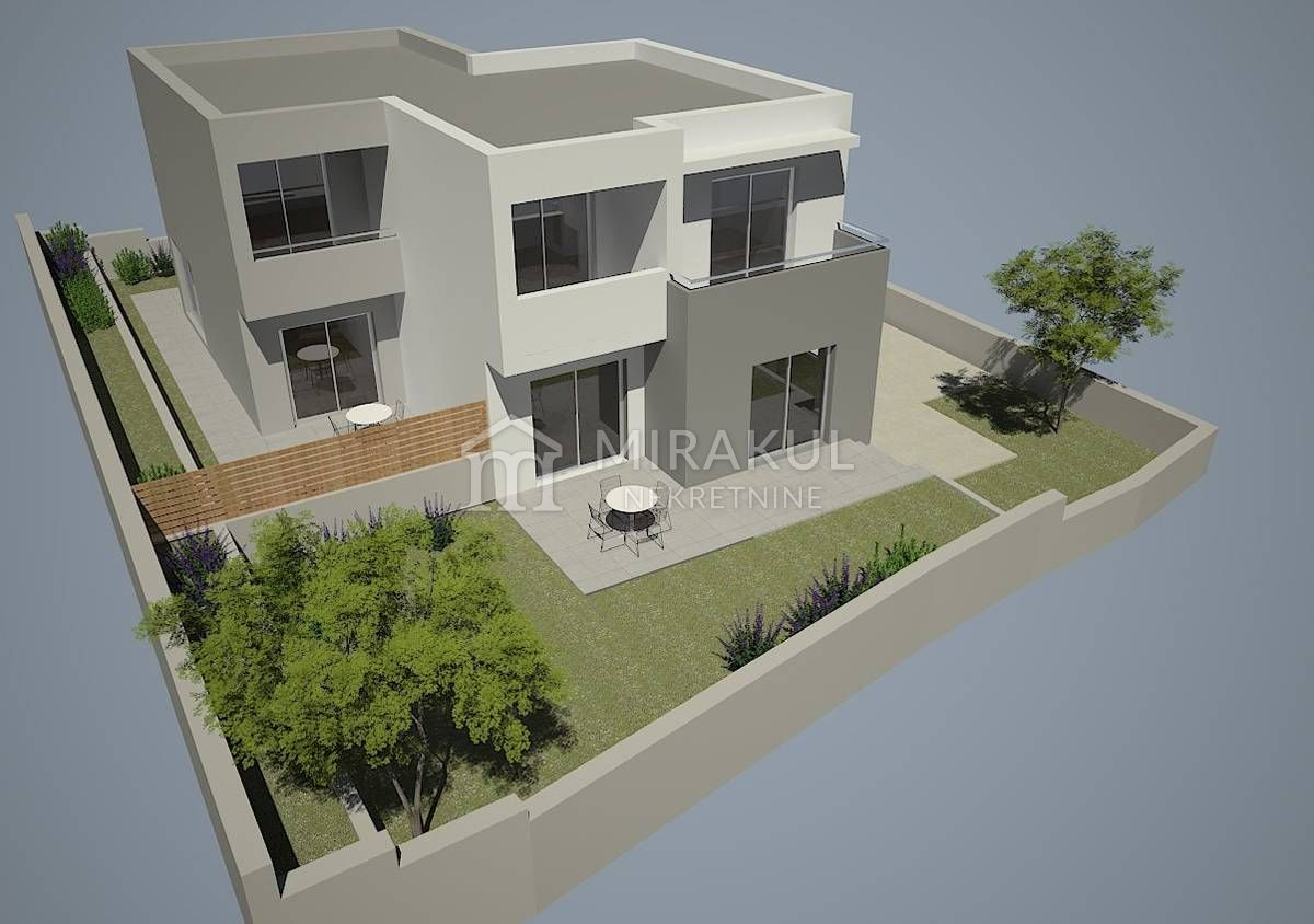 New building comfortable two storey flat half of house big garden two parking spaces vicinity to sea sj2 apartment room