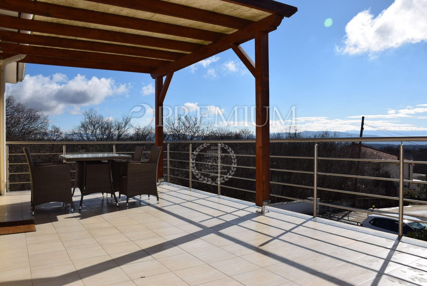 ... Bathroom And Terrace Of 25 M2. The House Is Located In A Quiet Location  And Has A Beautiful Panoramic View, While The Sea Is About 2000 Meters Away.