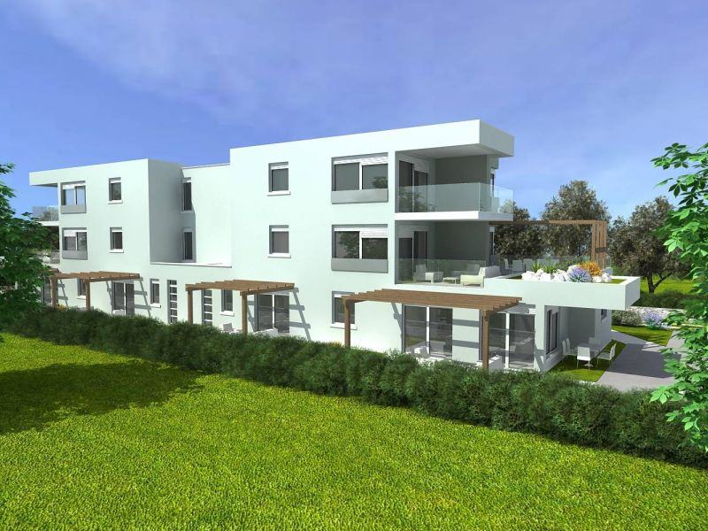 Štinjan, novogradnja, veliki prizemni stan s dvije terase