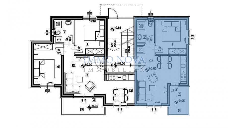 PRODANO - IMMO NOVA; Apartman u novogradnji kod Marine