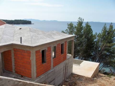 Seafront house on Korcula island, south side