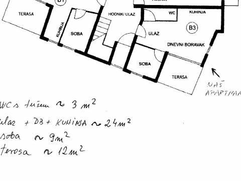 Apartman 36 m2 u neposrednoj blizini plaže - 20m