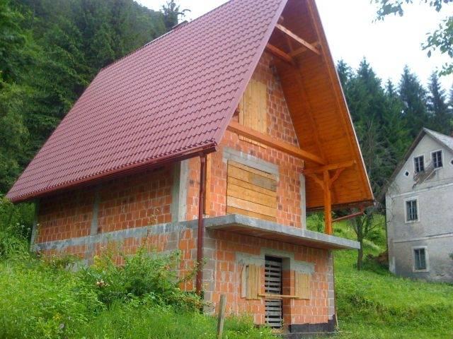 Gorski kotar vikendica u izgradnji