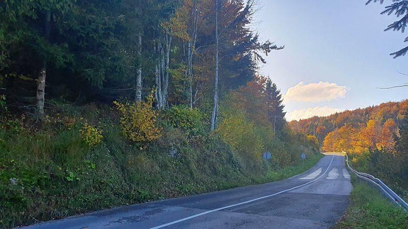 Gorski kotar, Ravna Gora zemljište sa pogledom na Alpe