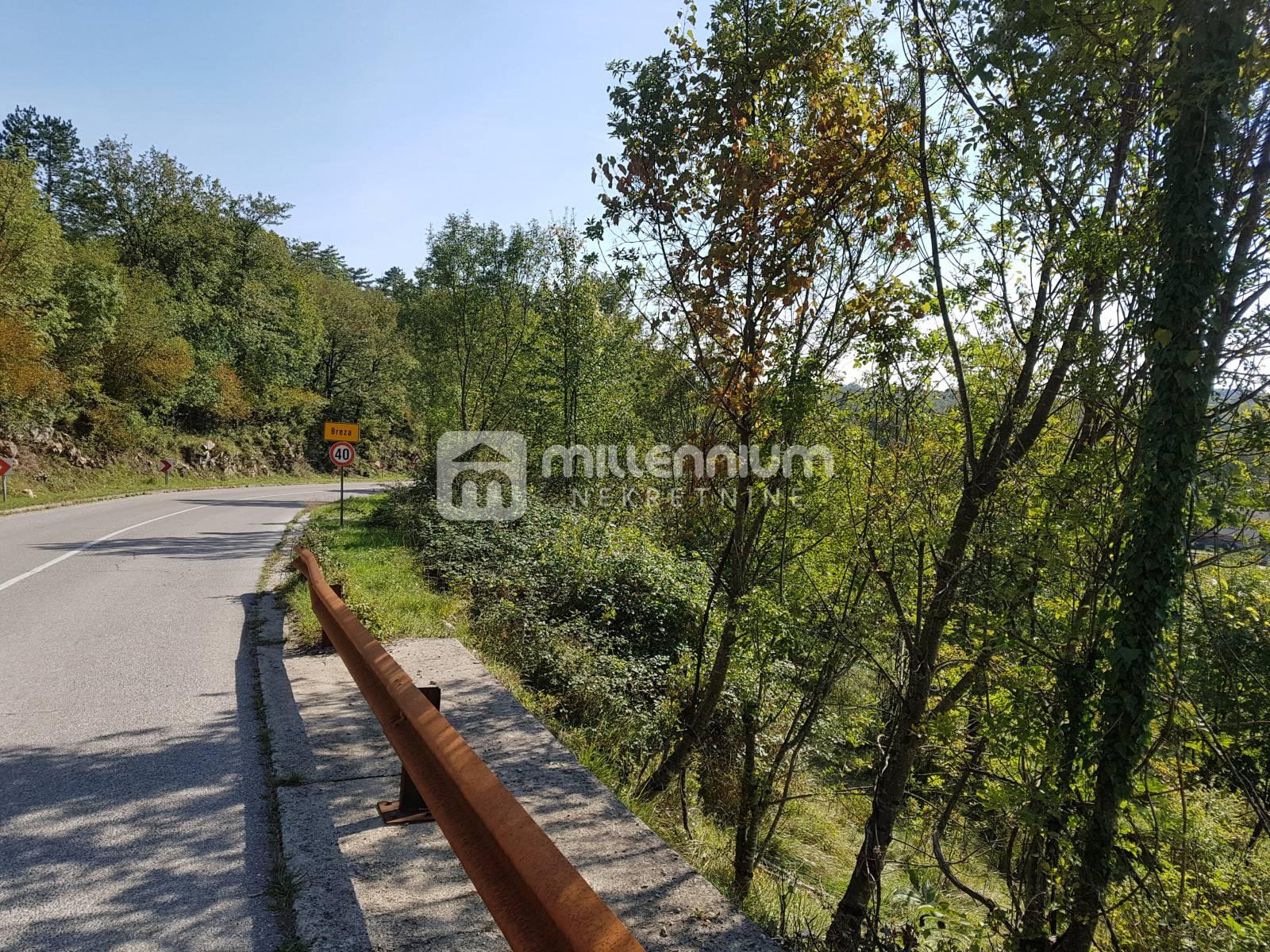 Klana, Breza, građevinsko zemljište 3.940m2