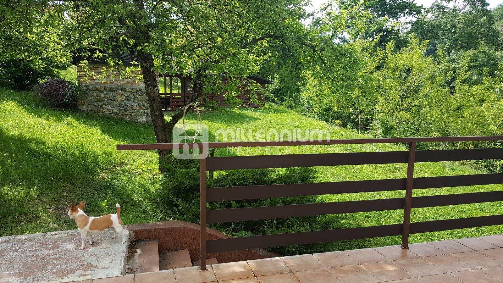 Bosiljevo, samostojeća kuća s velikom okućnicom uz rijeku Kupu
