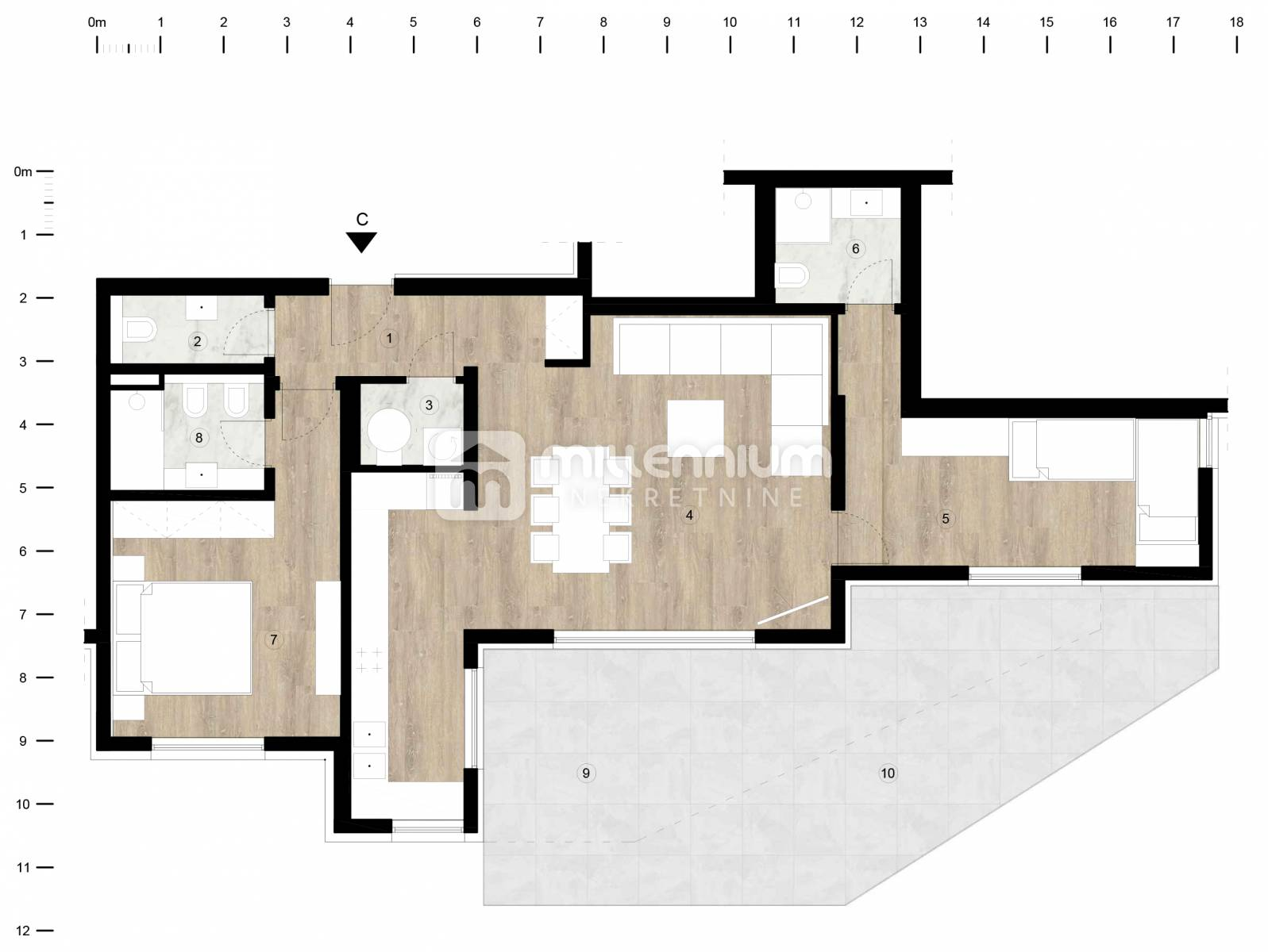 Opatija - centar, moderna novogradnja