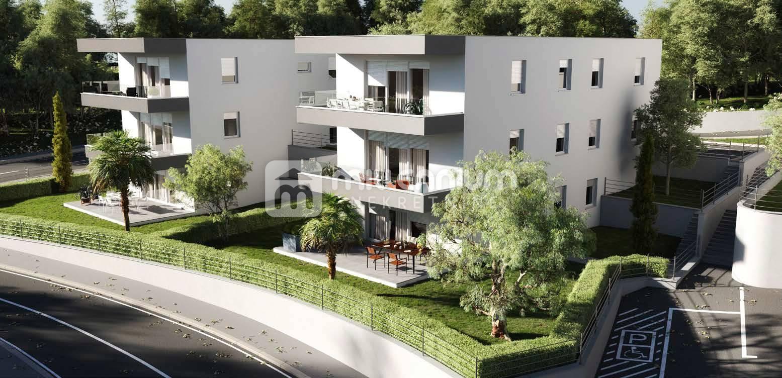 Otok Krk, kvalitetna moderna vila s 3 stana