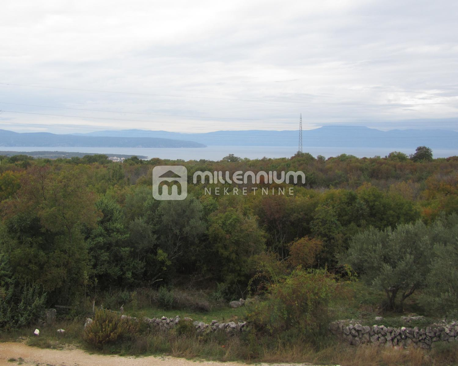 Otok Krk, okolica Malinske, novogradnja, 1s+db