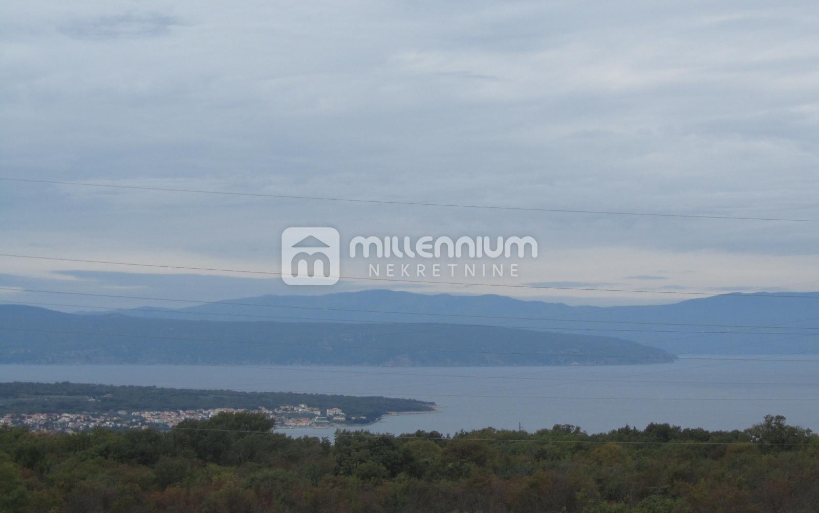 Otok Krk, okolica Malinske, novogradnja, dvoetažni 3s+db
