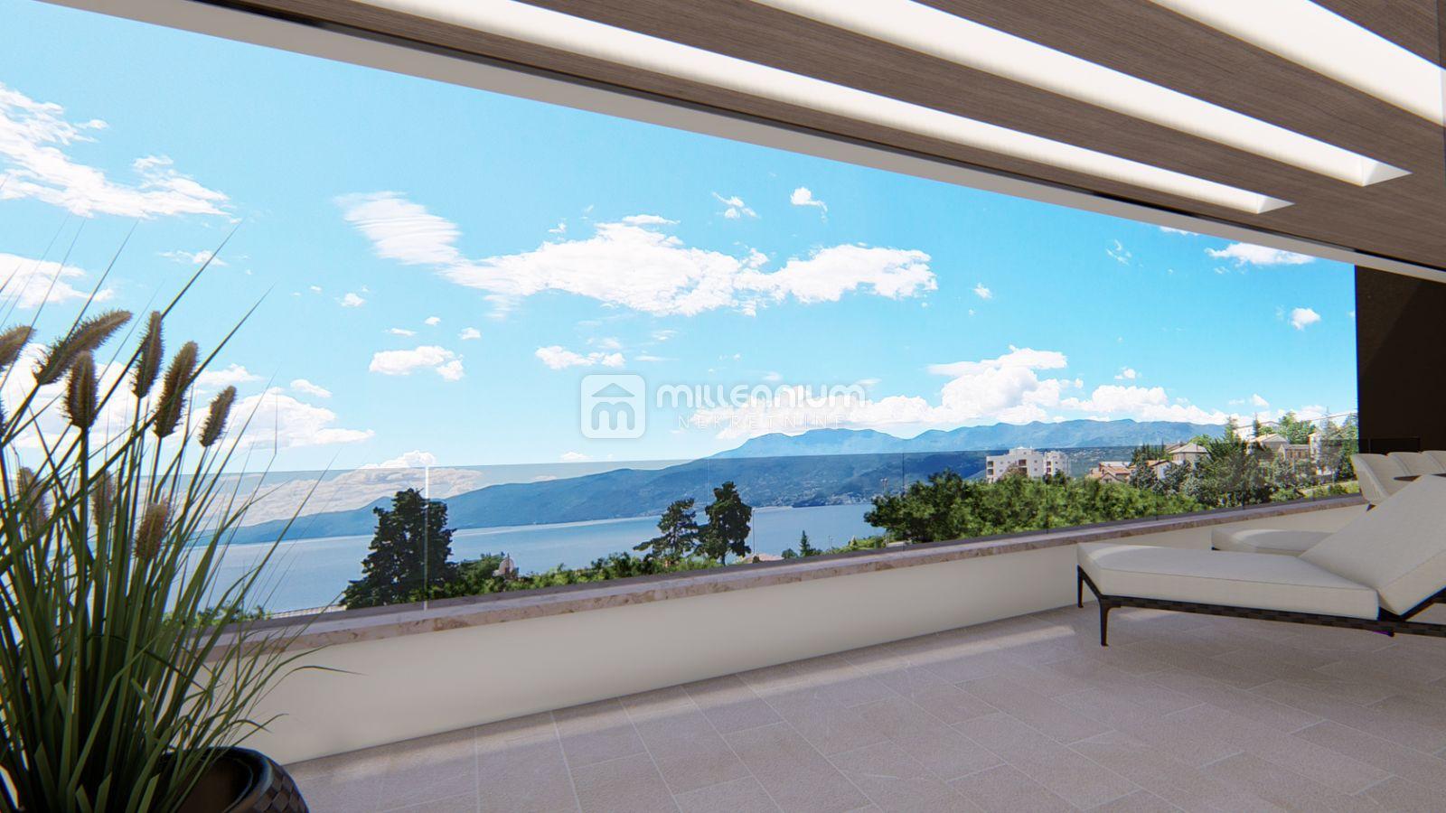 Rijeka, Srdoči, novogradnja, 2s+db, terasa i okućnica