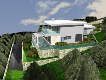 Kostrena, građevinsko zemljište s projektom