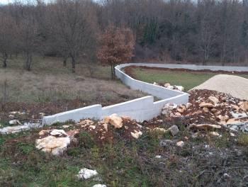 Istra, Sveti Martin, započeta gradnja istarske vile