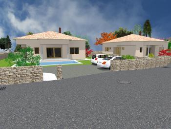 Otok Krk, samostojeća kuća, okućnica, bazen