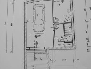 Šmrika, zemljište s projektom za samostojeću kuću s garažom