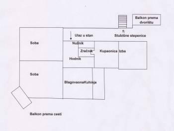 RIJEKA, SUŠAK, 89.70m2, 2-SOBNI STAN