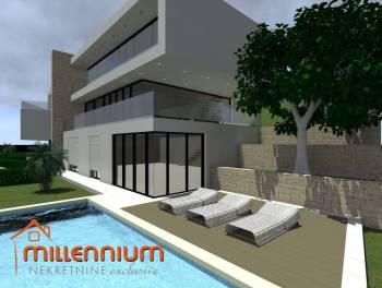 Rijeka, Brestovice, novogradnja, ultramoderna  kuća s bazenom