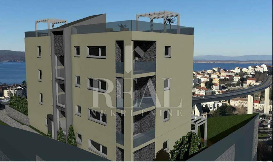 Novogradnja Crikvenica,76m2,3S+DB,balkon 6m2
