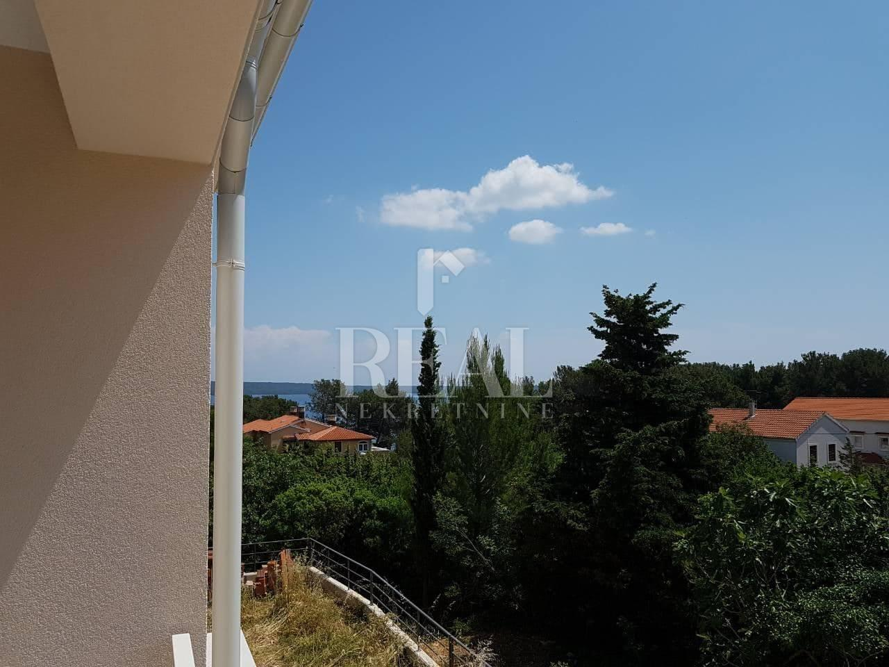 Nerezine, novogradnja,1S+DB, balkon sa pogledom na more
