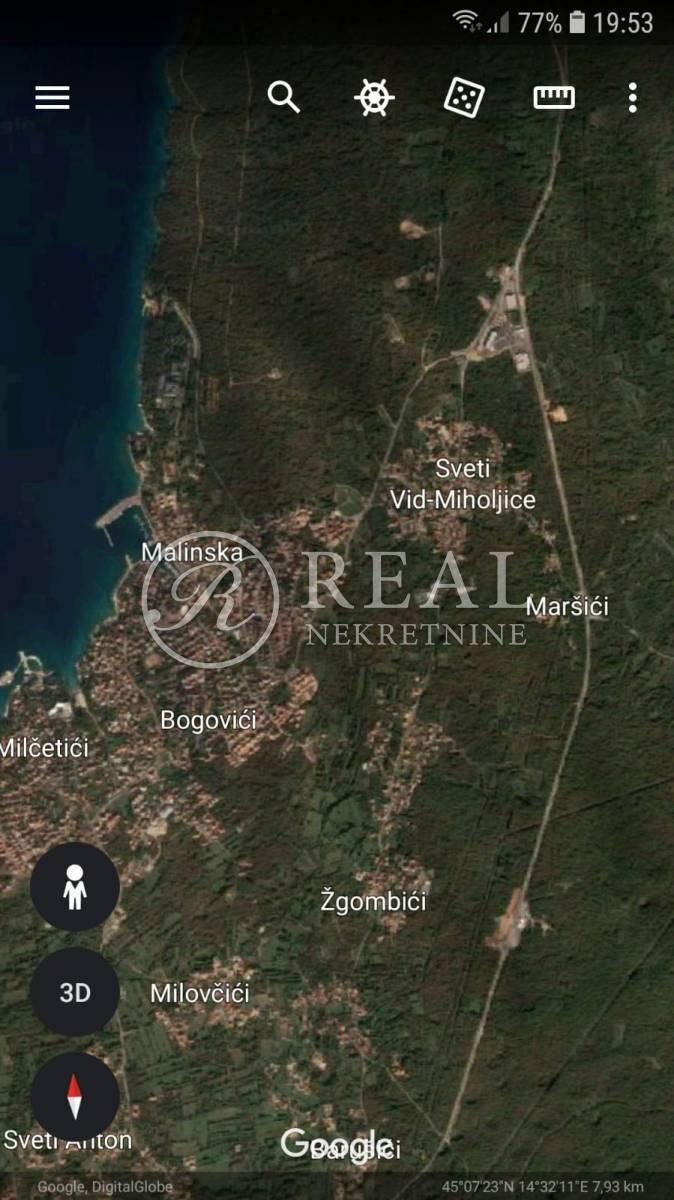 Građevinsko zemljište u Malinskoj, otok Krk