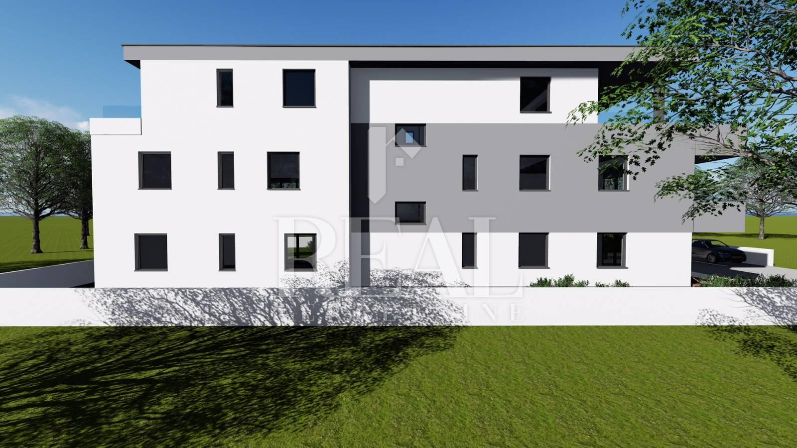 Apartman u Novalji novogradnja 2S + DB 84,67 m2