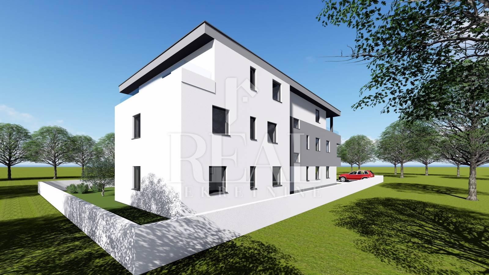 Apartman u Novalji novogradnja 2S + DB  77,45 m2