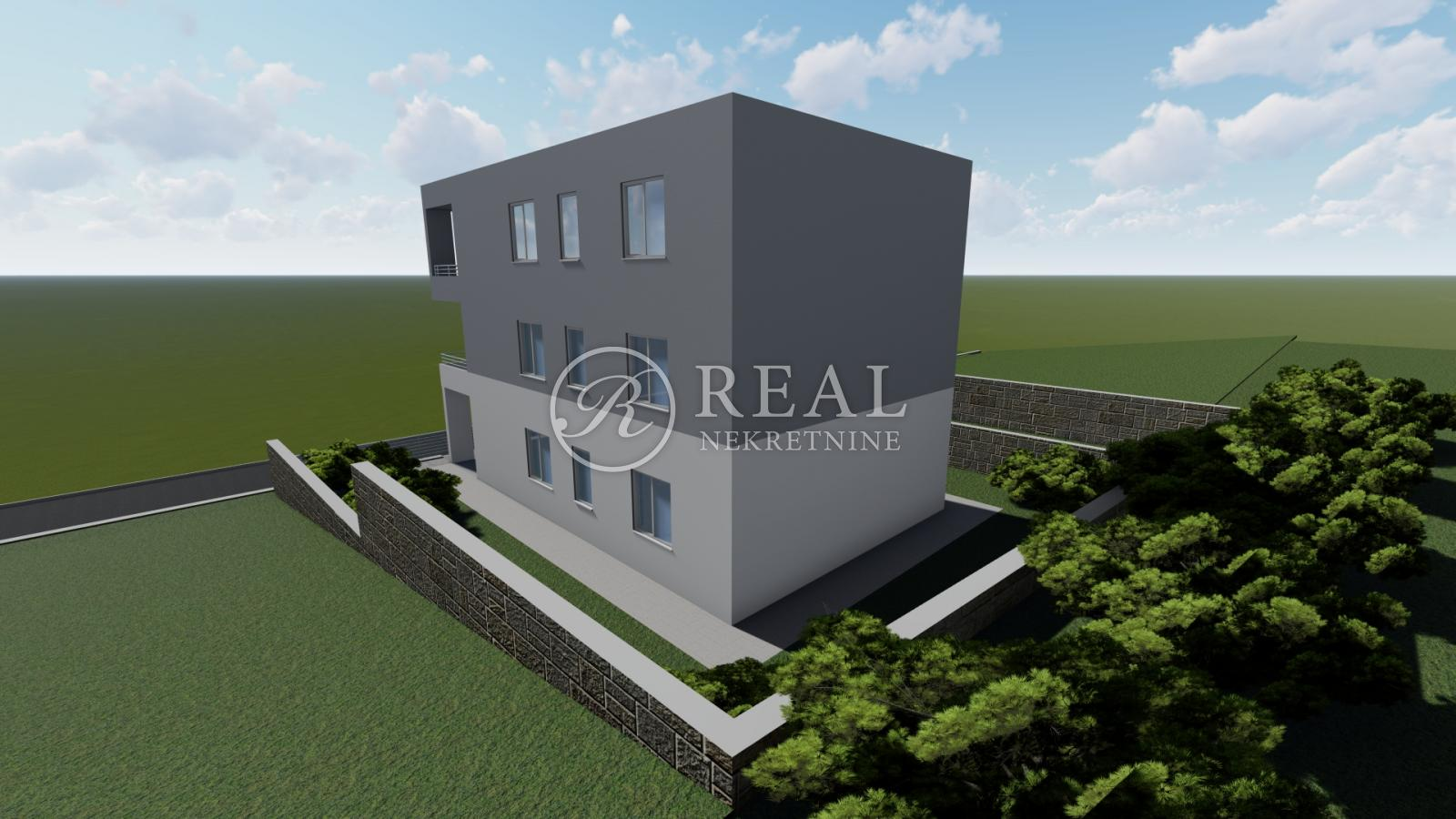 Samo kod nas!Martinkovac!Novogradnja ,urbana Vila 3 stana,92 m2,3S+DB,balkon 18 m,prekrasan pogled na more