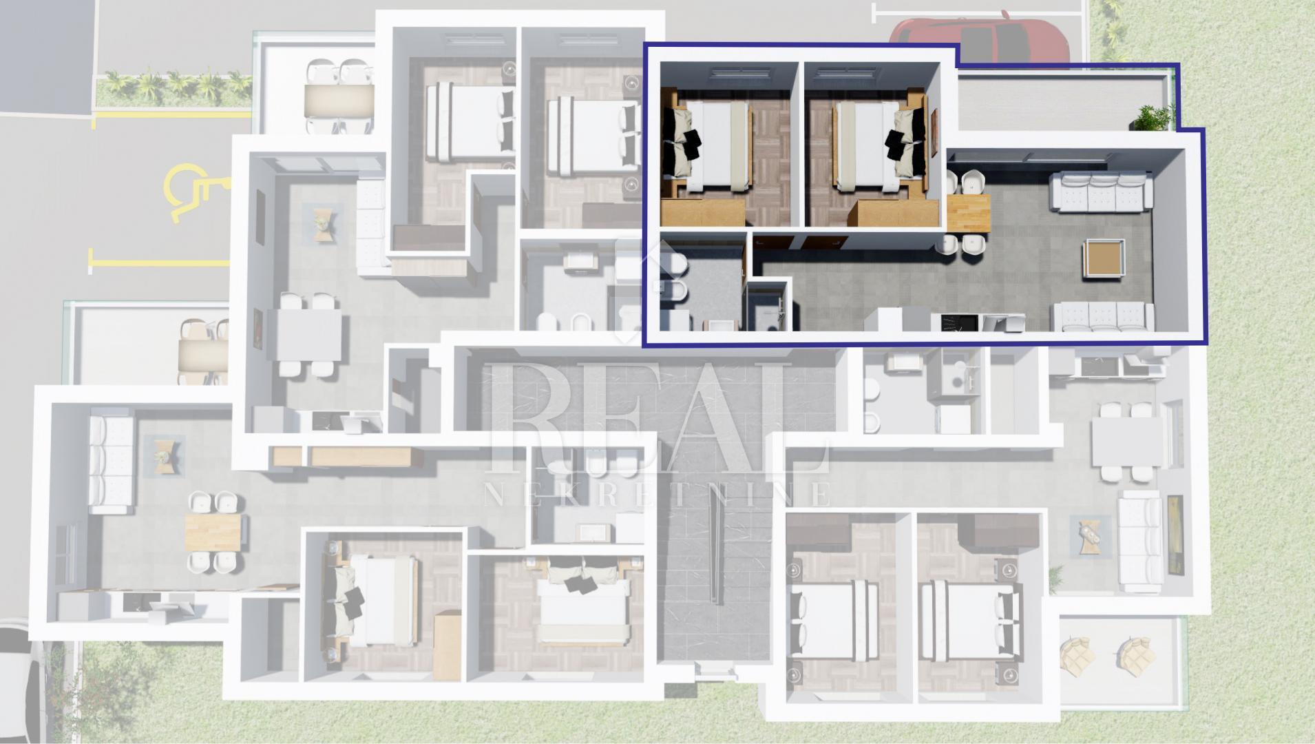 Novogradnja Peroj,apartman 50,63 m2,balkon