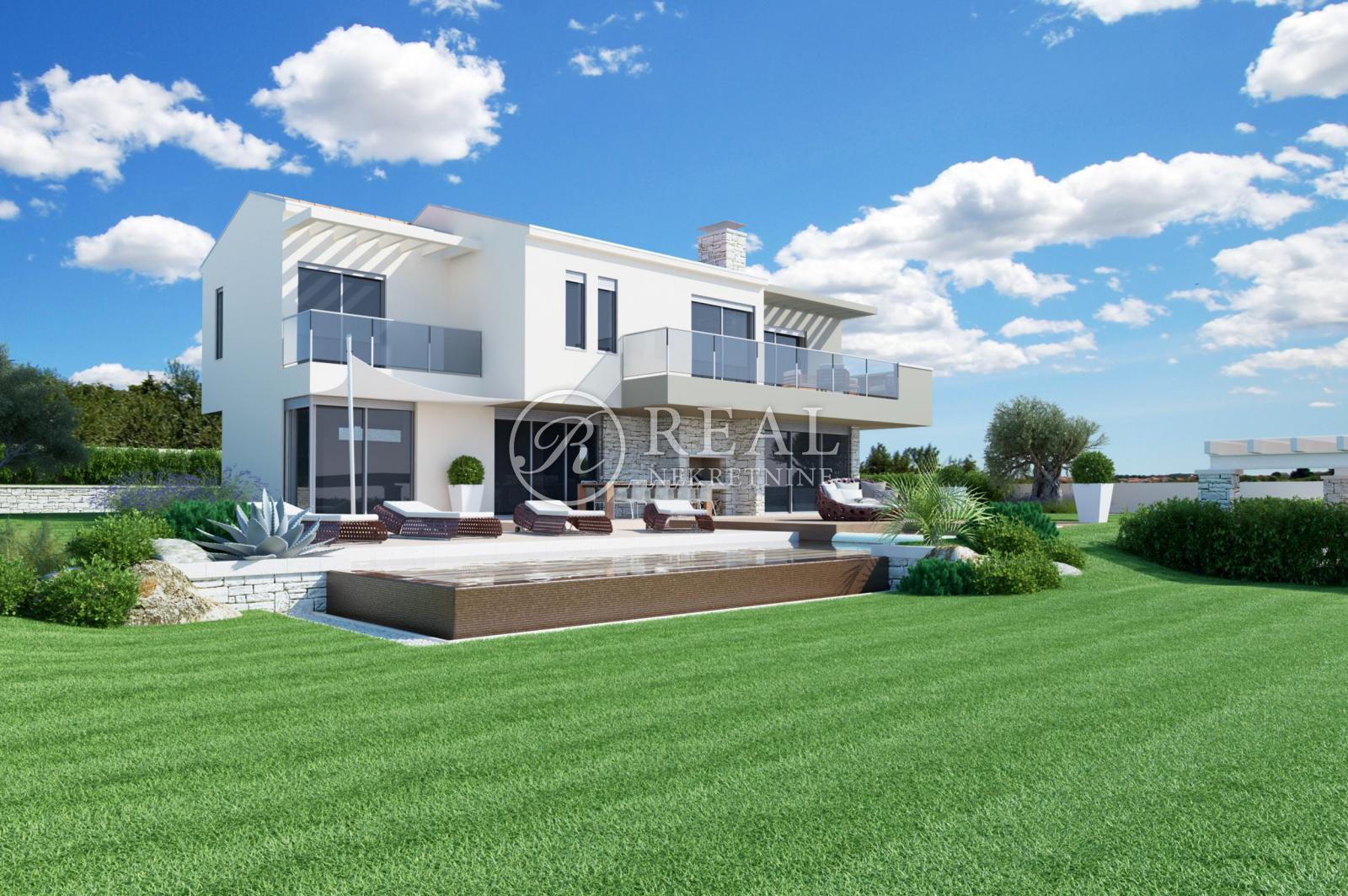 Novoizgrađena Villa sa bazenom 203 m2,pogled na more