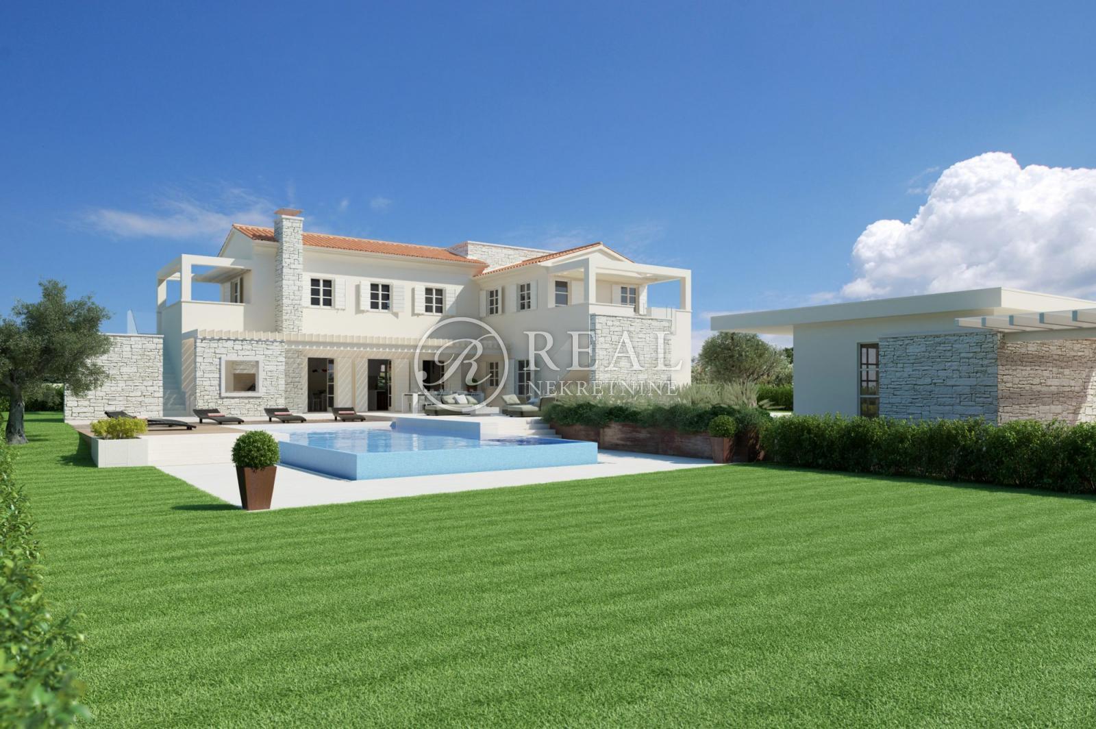 Novoizgrađena Villa sa bazenom 248 m2,pogled na more
