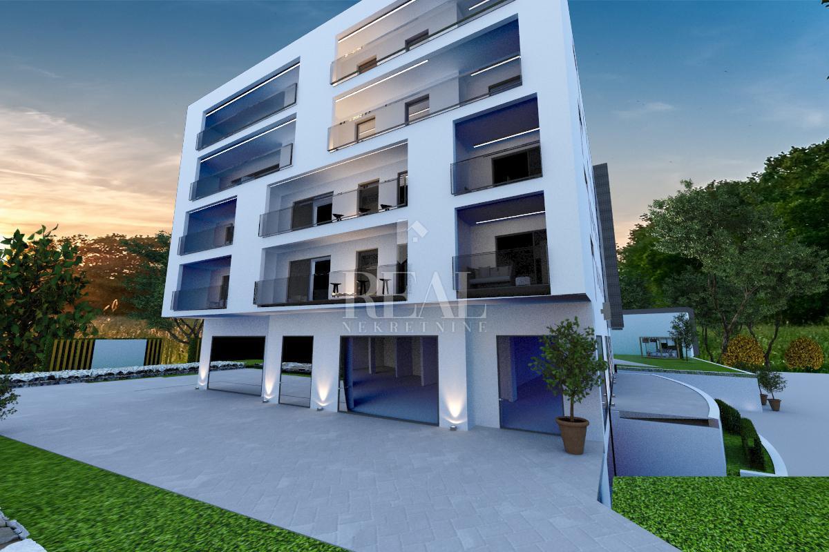 Novogradnja na Zametu,stan 52 m2 1S+DB,balkon,garažno mjesto