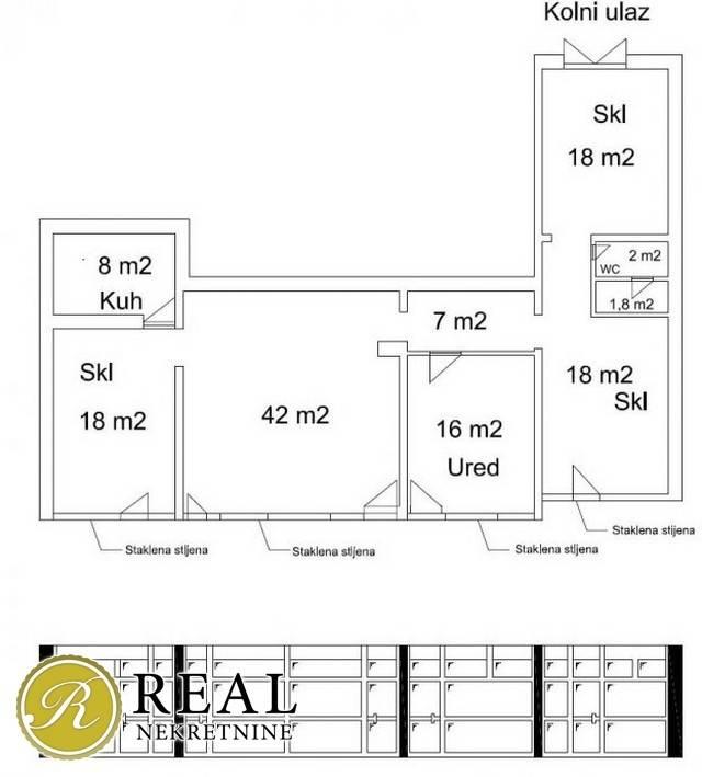 Krnjevo, poslovni prostor, 125m2