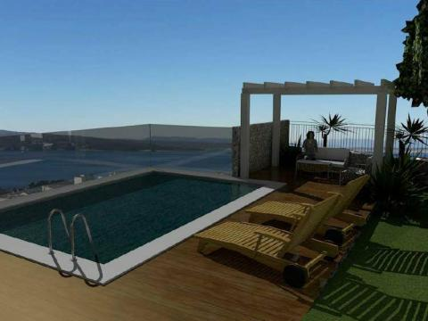 Novogradnja sa bazenom Crikvenica,71m2,3S+DB,terasa 170m2