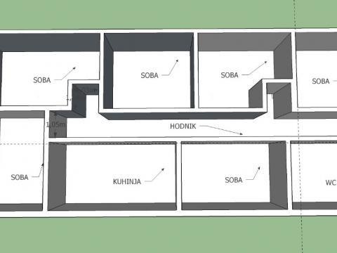 Podmurvice, mini studentski dom, 6SKL, 98 m2!