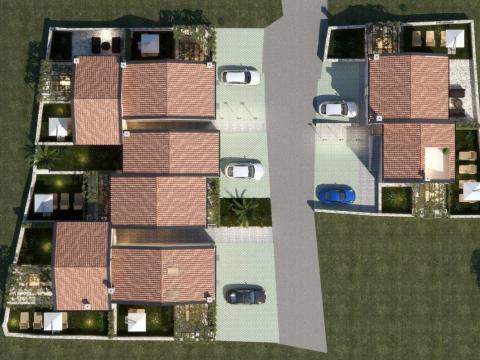 Cres Novogradnja,stan 81 m2,2S+DB sa okućnicom 87 m2
