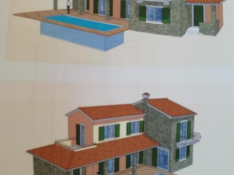 Bregi, građevinsko zemljište od 1771 m2 za gradnju dvije vile