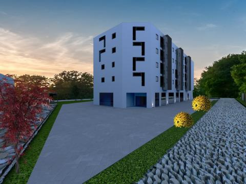 Novogradnja na Zametu,stan 48 m2 1S+DB,balkon,garažno mjesto