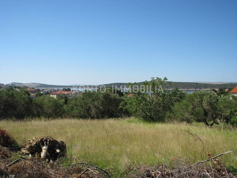 Rab, Banjol, zemljište sa građ. dozvolom sa lijepim pogledom, HITNO! VELIKI POPUST - DO 30.11.!