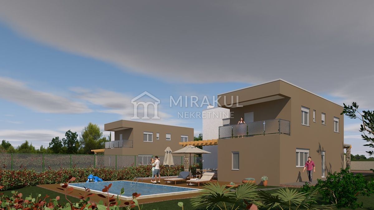 Immobilien Šibenik Kroatien, Haus, Mirakul Immobilien, ID - KŠ - 452, Haus mit Pool im Hinteland bei Šiibenik