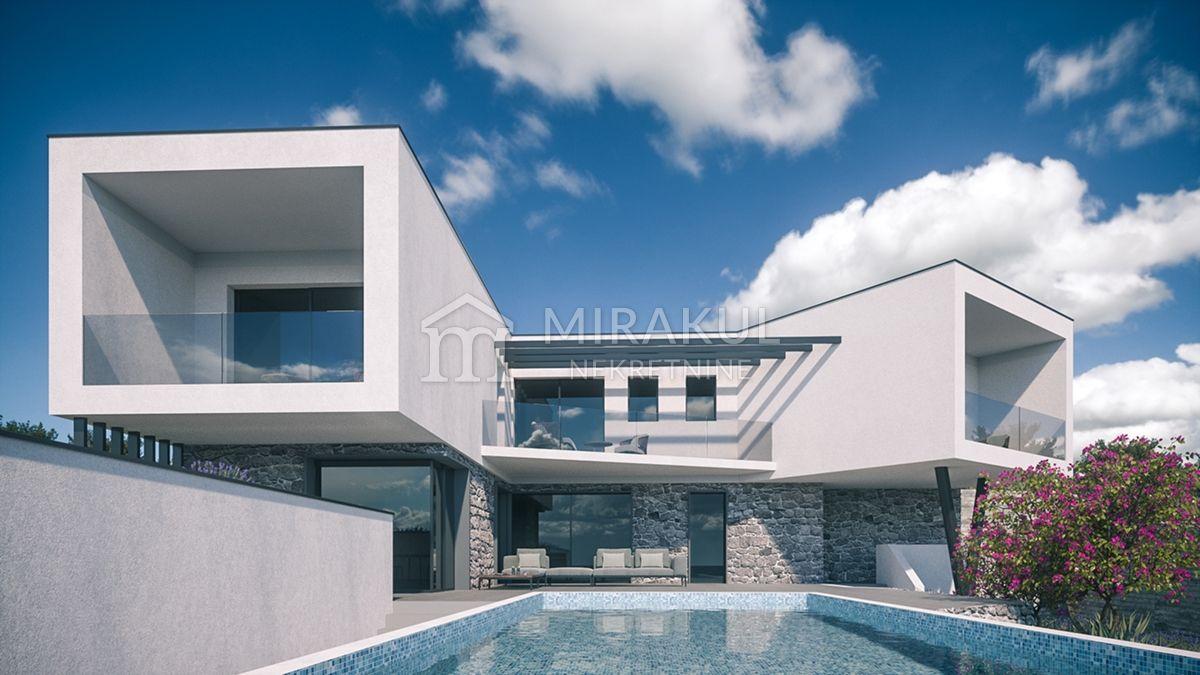 Nekretnine Vodice, kuća, Mirakul nekretnine, ID - KV - 456, Vila sa bazenom i pogledom na more