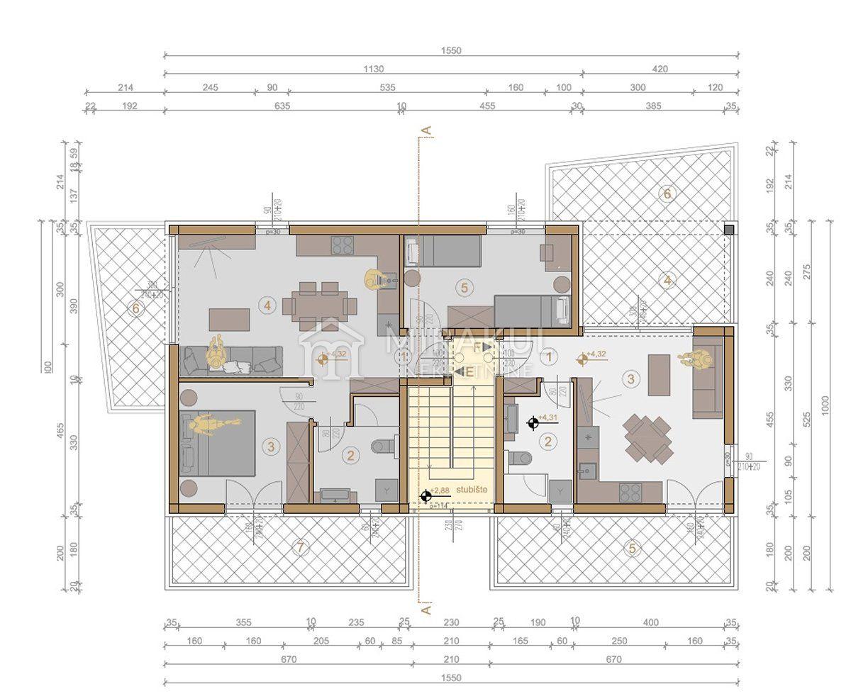Murter, Novi projekt, apartmansko naselje Ruža vjetrova - Tramontana