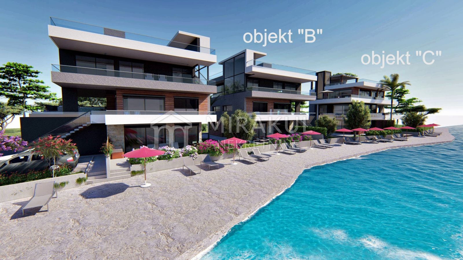 Properties Sukošan Croatia, flat, Mirakul Real Estate agency, ID - AS-637, Exclusive flats in the first row to the sea