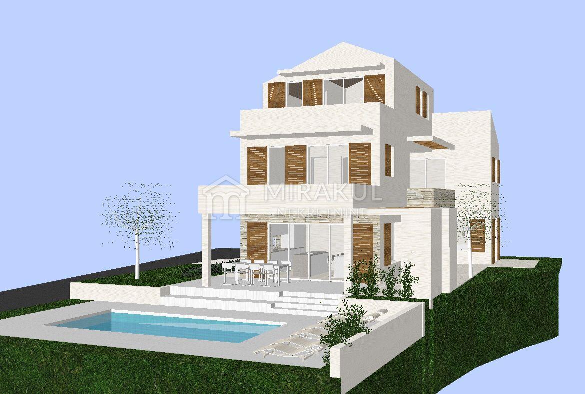 Ingatlan Tribunj Horvátország, telek, Mirakul ingatlaniroda, ID - GT-334, Építési telek közel a tengerhez tervekkel családi villára 3