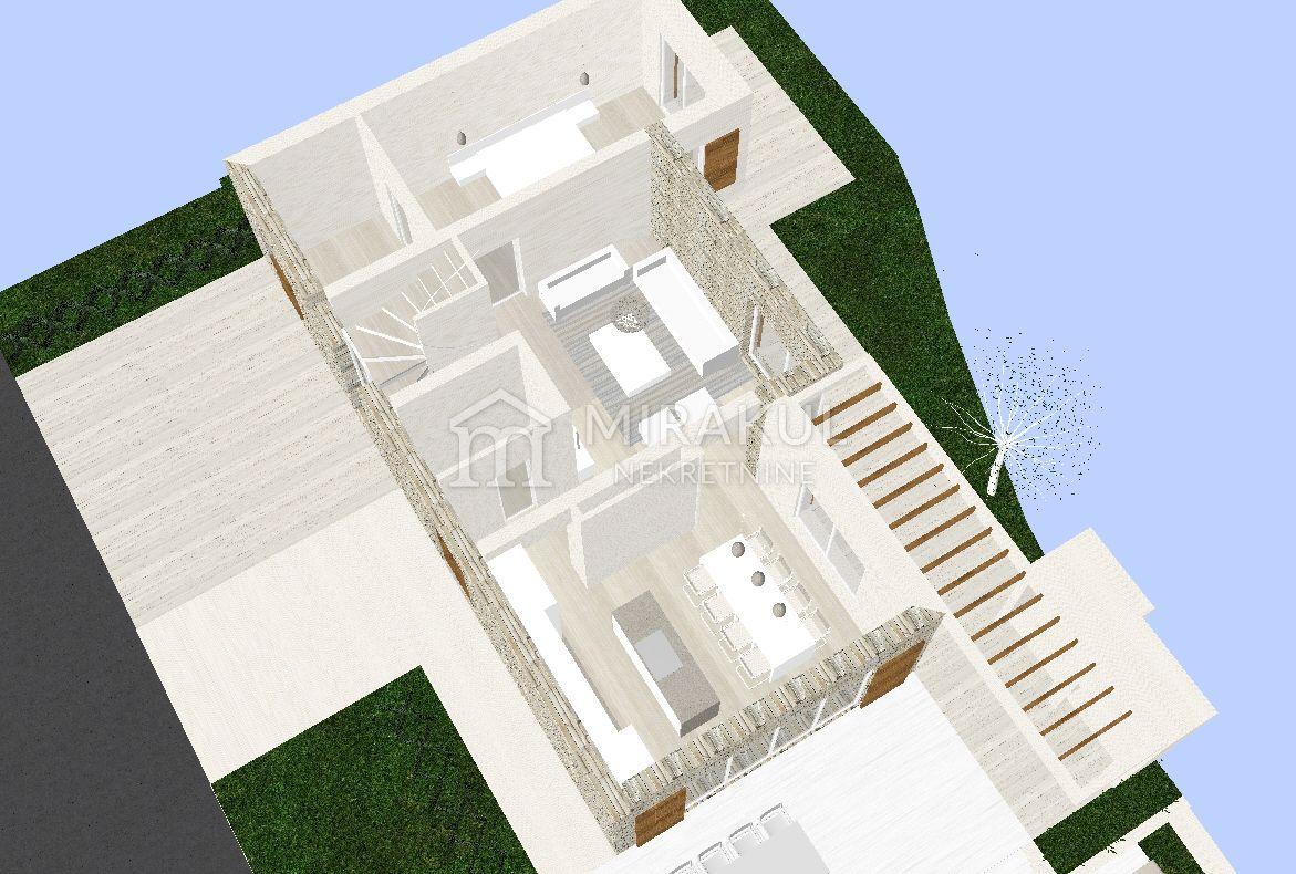 Tribunj, Építési telek közel a tengerhez tervekkel családi villára