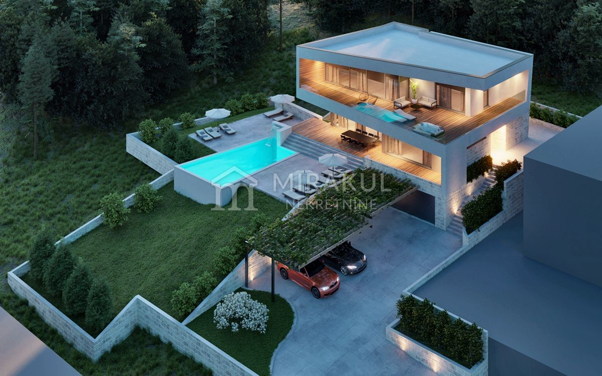 Croatia - Murter, Modern breathtaking villa with beautiful sea views
