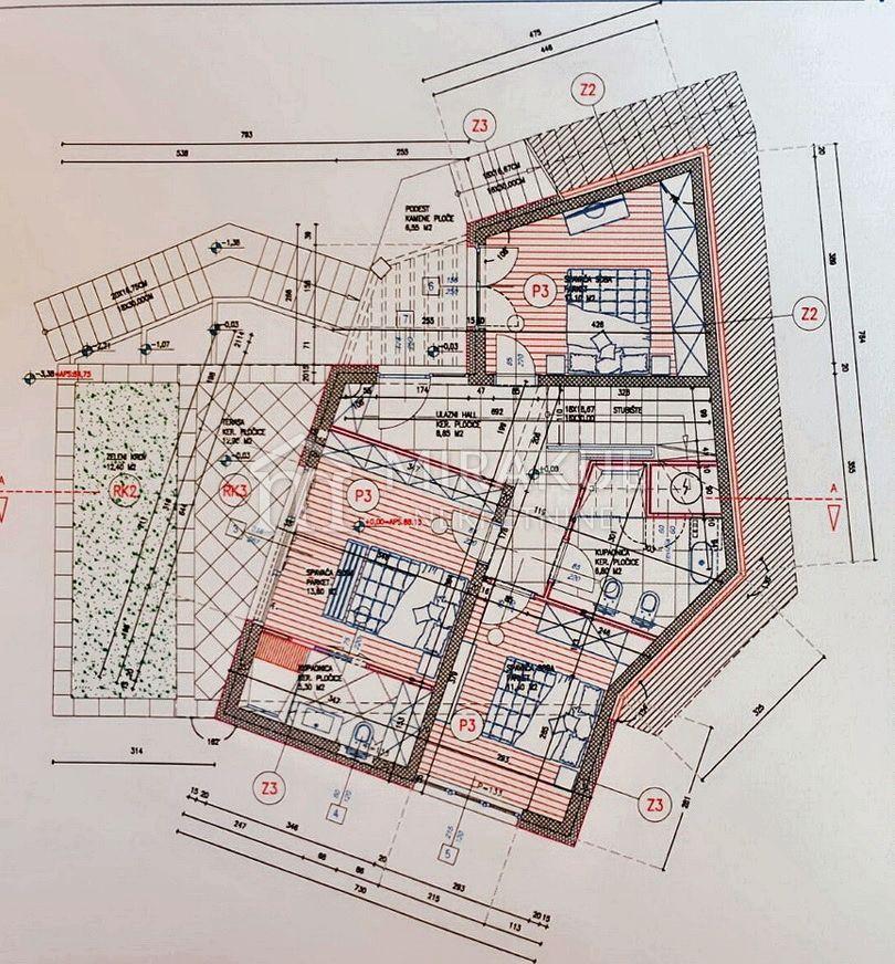 Šibenik, Građevinsko zemljište sa izdanom dozvolom za obiteljsku vilu