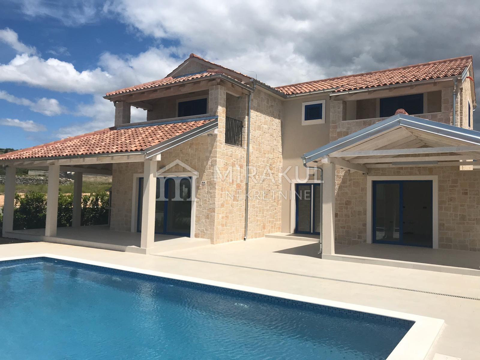 Real estate Primošten, New stone villa with pool