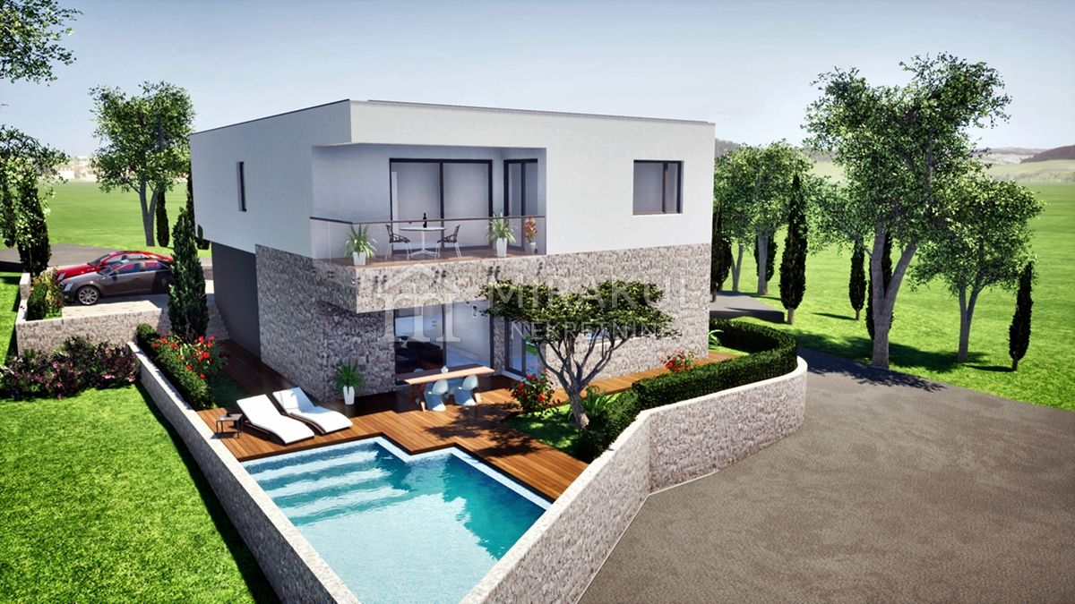 Real Estate Vodice, Beautiful villa with pool, new building