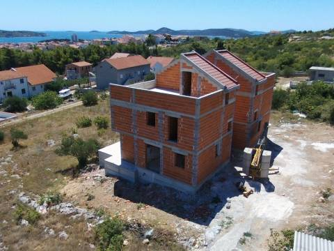 Properties Vodice Croatia, House, Mirakul Real Estate agency, ID - KV - 371, duplex vhite panoramic view