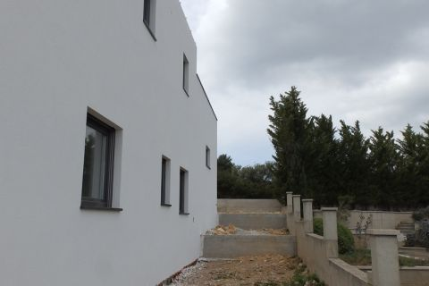 Vodice, Villa on quiet location with panoramic view and pool